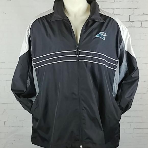 Panther NFL Team Apparel Reebok Jacket Windbreaker.  M 5b7025be03087c6945652781 dcc199ee1